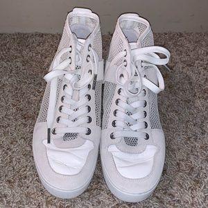 Michael Kors White Mesh Sneaker Size 8